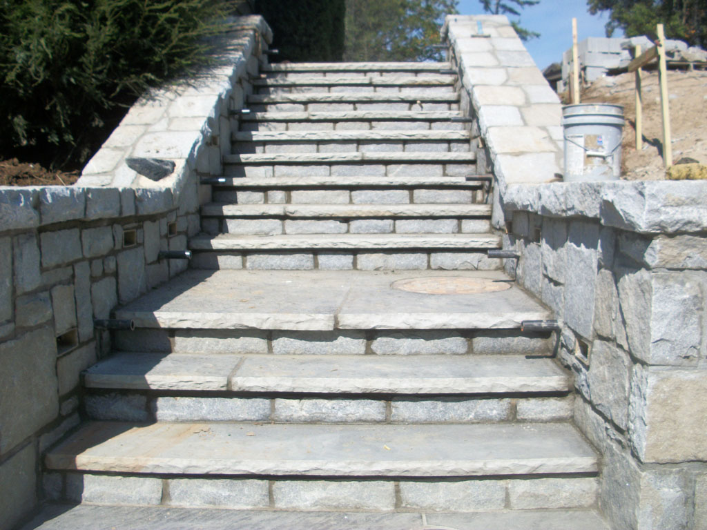 3 thick tennessee flagstone steps with 6ft landing and for Pictures of stone steps