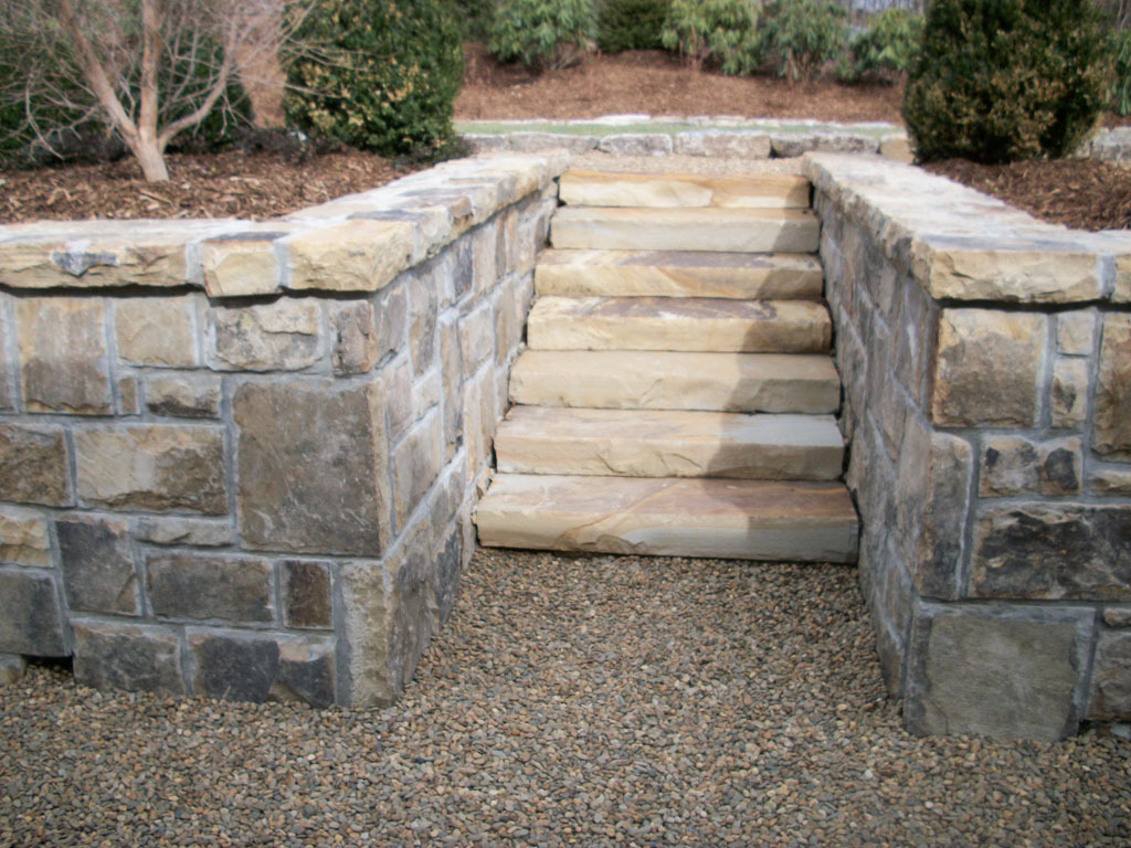 Retaining Wall and Steps 7
