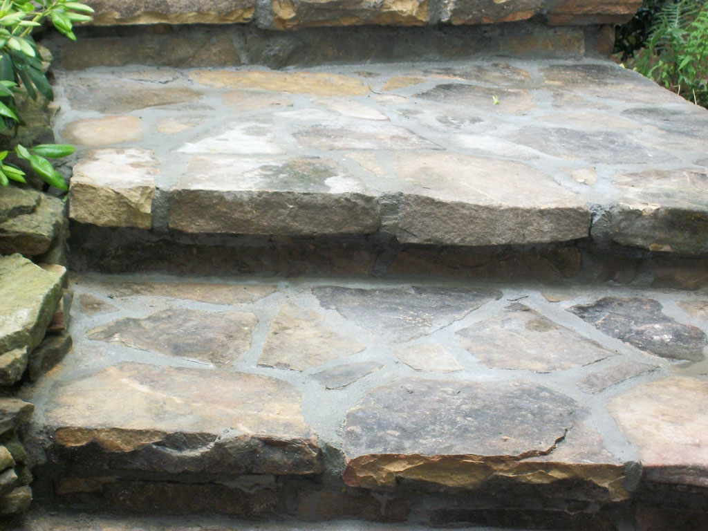 Tennessee Fieldstone steps sample 4