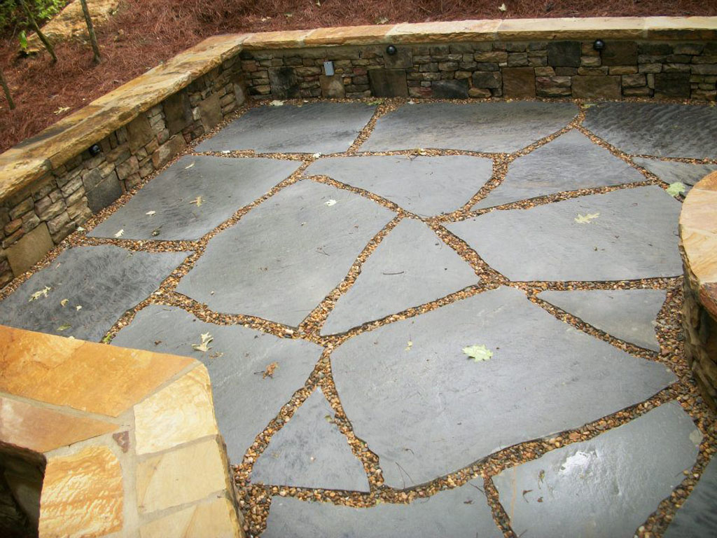 Tennesse Grey crab orhcard super slabs with indiana pebbles stone sample 1