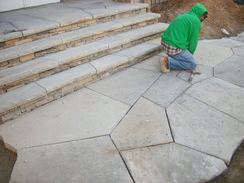 Grey Flagstone Super Slabs and Steps sample 11