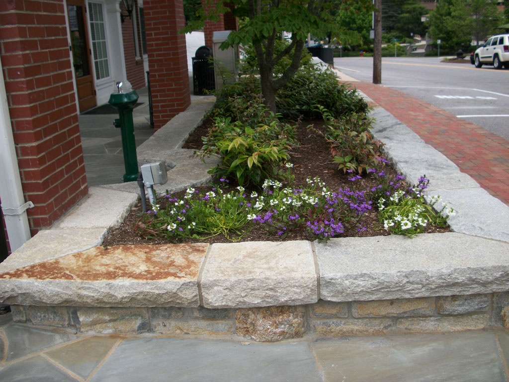 Planters area and dry stack stone sample 06