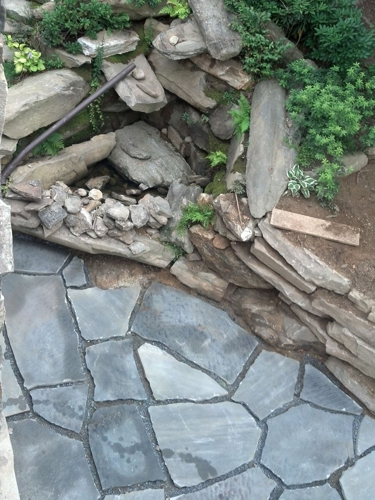 Tennessee Grey crab orchard super slabs on grade with planting materials sample 12