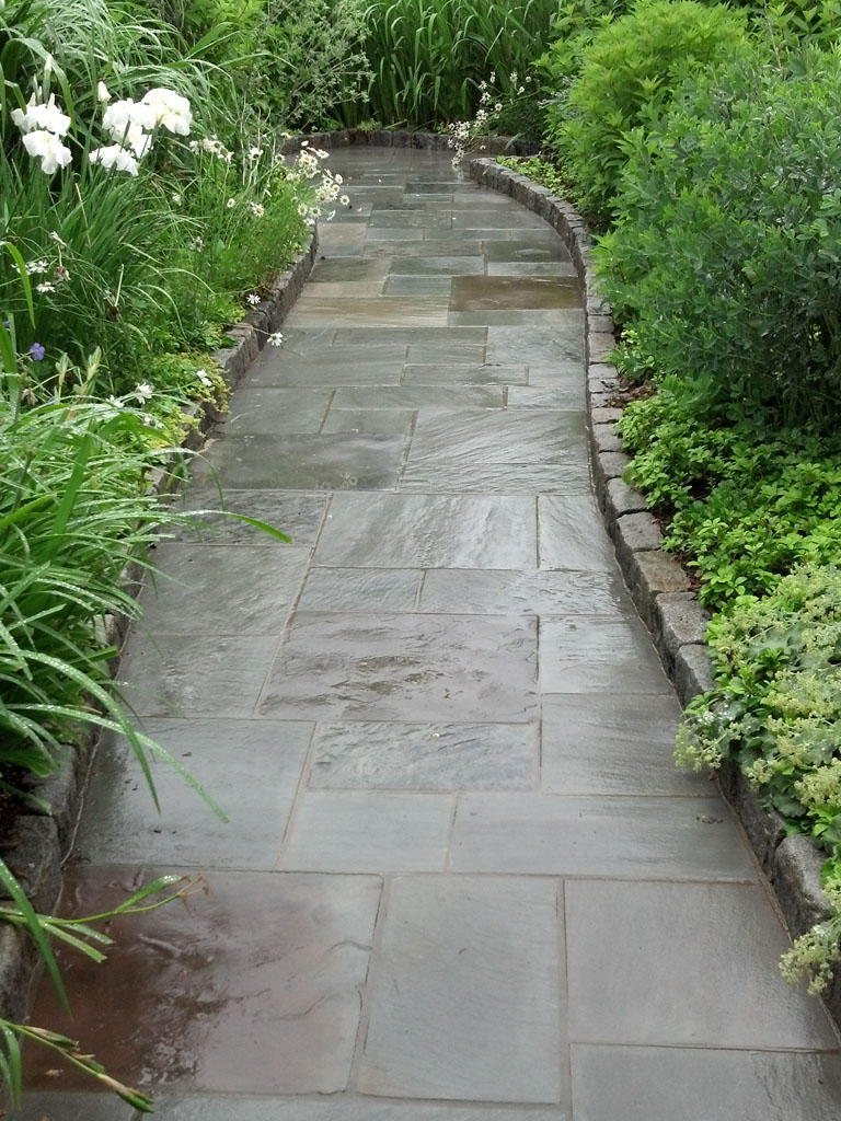 Walkway with cabbo stone